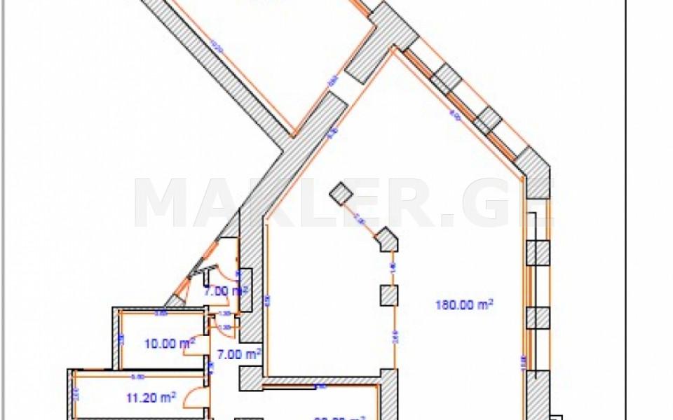 Сдаётся Продается 345 m² площадь Коммерческая площадь в Чугурети  на ул. Пиросмани