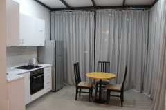 For rent, newly renovated 2 room,  studio apartment with 30 sq.m veranda, in Vake, on Paliashvili str, near the round garden.