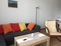 for rent 3 room studio apartment, with 2 bedrooms, fully equipped with technics and furniture. Located in Vake, on Ramishvili str. In the yard there is security, barrier, video surveillance.