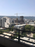 Apartment for sale on Iosebidze str. The apartment is white framed with crumbling walls, stretched floors, balconies and metal doors. The building is fully renovated, has all communications and is in operation. The apartment has a wonderful view of the city.