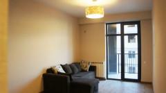 Продается 2 комнатная квартира с новым ремонтом, центральным отоплением и встроенной кухонной. в новостройке «Archi» на улице Миндели.